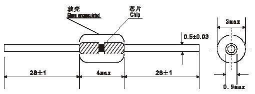 供应华巨wmz58a单晶硅热敏电阻